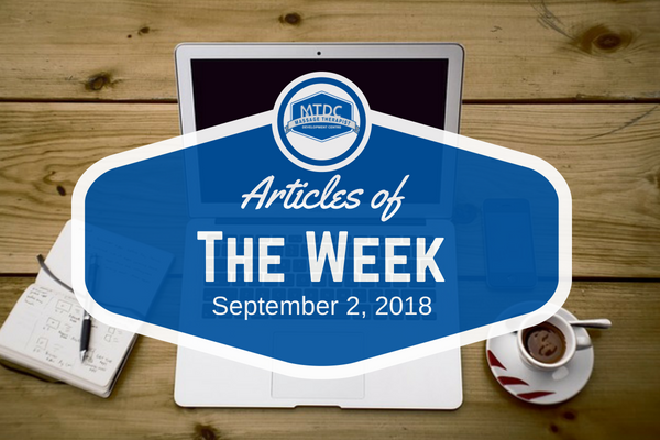 Articles Of The Week September 2, 2018