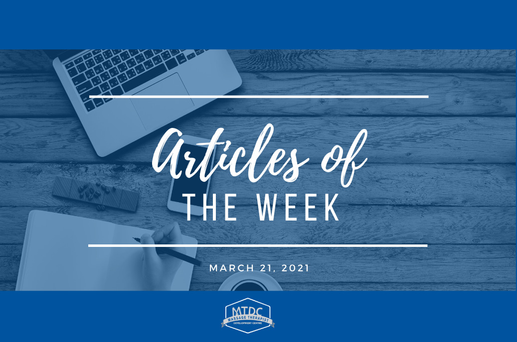 Best manual therapy articles of the week for March 21, 2021