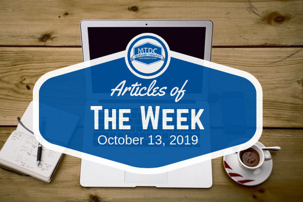 Articles Of The Week October 13, 2019