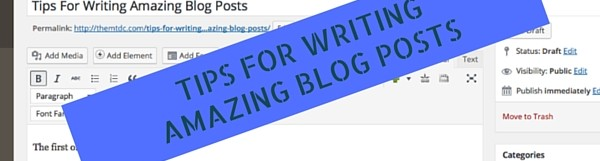 Tips For Writing Amazing Massage Therapy Blog Posts
